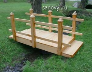 деревянный мостик для сада, фото