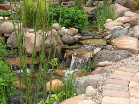 Водопады для дачи своими руками