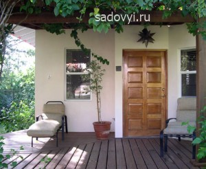 деревянная терраса на даче, фото