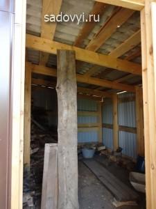 как построить дровник на даче своими руками, фото
