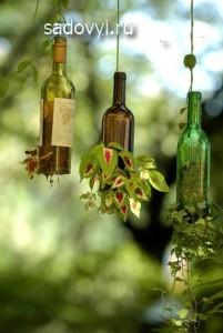 как делать поделки из бутылок для дачи