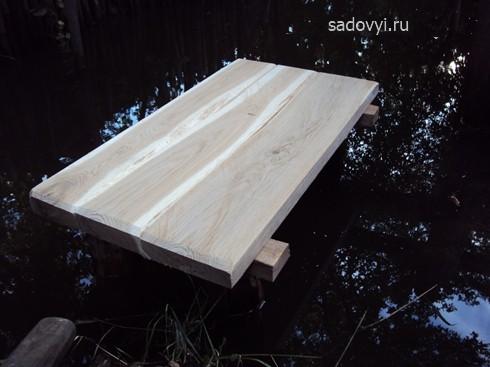 обустраиваем ручей, как сделать деревянные ступеньки