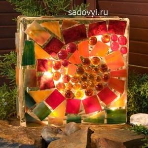 как сделать садовый светильник своими руками