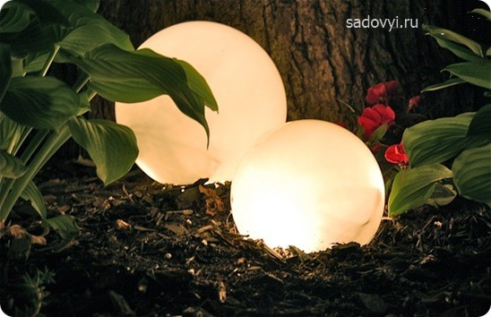 уличное освещение сада своими руками