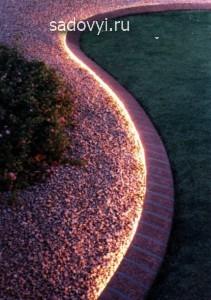 освещение сада своими руками, идеи