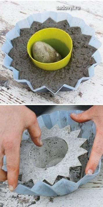 Садовые скульптуры из бетона (вазоны, шары, ящики) своими руками Обустройство загородного дома и участка своими руками