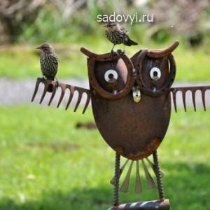 идеи для сада, скульптура своими руками
