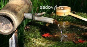 как сделать фонтан для японского сада своими руками