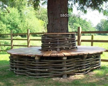 Дизайн лавочки из дерева своими руками