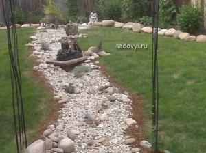 сухой ручей в саду, 12 фото