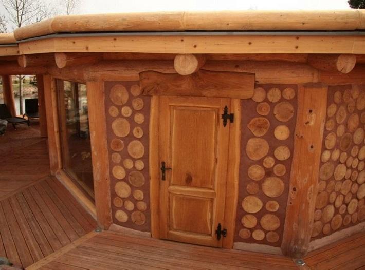 строим баню сами из дров
