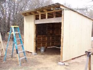 строим сарай из поддонов своими руками