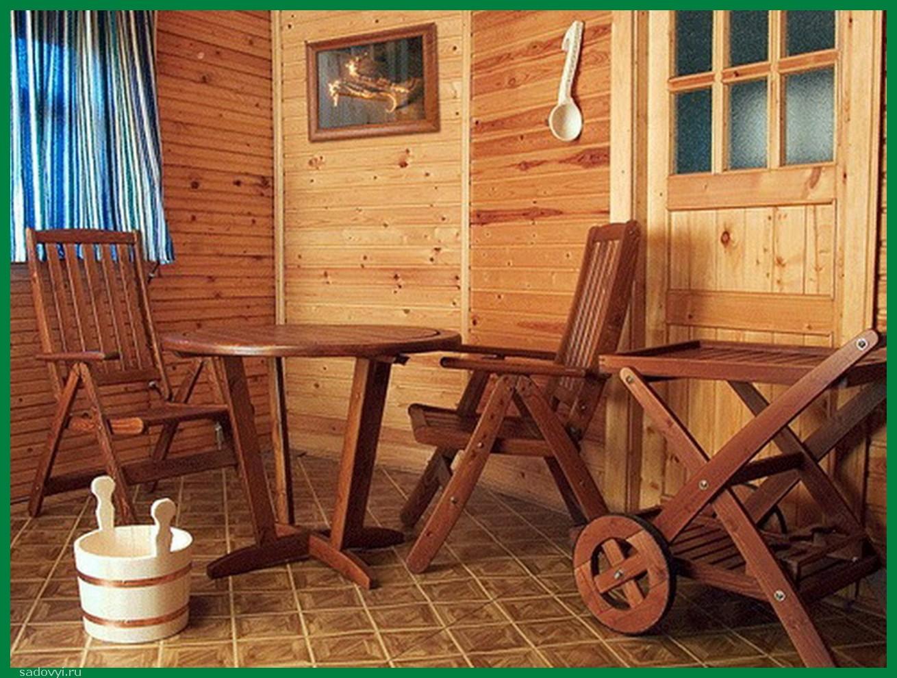 Мебель в баню своими руками из дерева фото