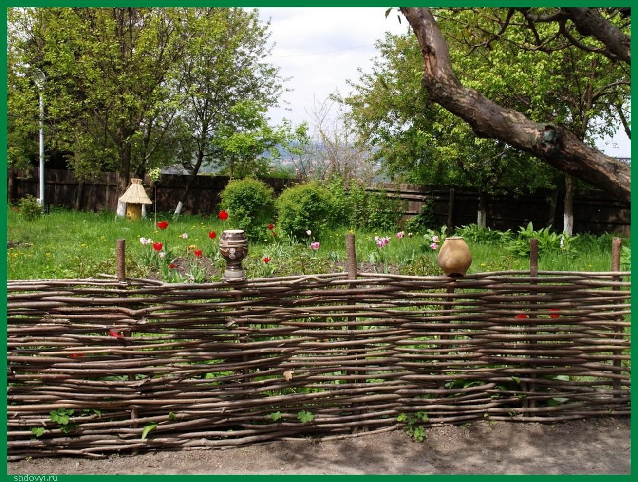 Забор из веток своими руками фото для поделки