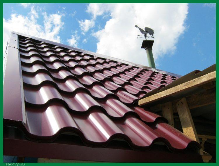 Что можно сделать на даче с металлочерепицей? Фото