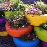 оригинальные садовые цветники, фото