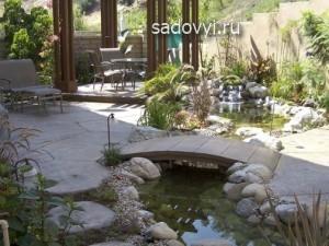 мостик для сада своими руками