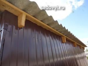 как сделать дровник на даче своими руками, фото