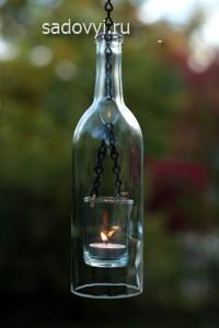 садовые поделки из бутылок, фото