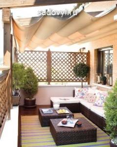 красивая летняя терраса к дому, фото