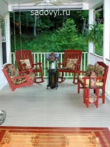 дачная летняя терраса к дому, фото