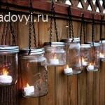 садовый светильник из банок своими руками