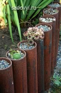 ограждения и заборчики для клумб и цветников