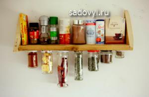 деревянная полочка для специй своими руками