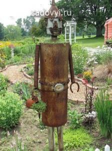 садовая скульптура из металла своими руками