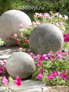 садовая скульптура из бетона своими руками, шары