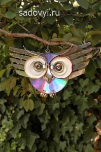 идеи для декора сада своими руками, скульптура из подручных материалов