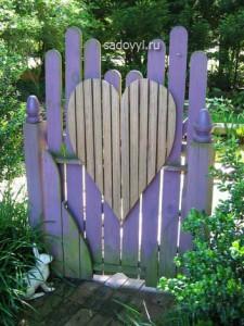 красивые садовые калитки и ворота дизайн