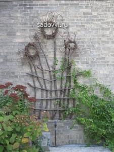 шпалеры для вьющихся растений своими руками