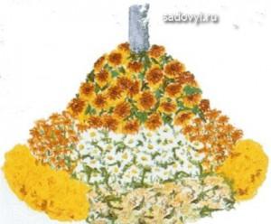 варианты цветочных клумб фото