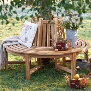 садовая скамейка вокруг дерева своими руками