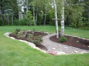 Как сделать сухой ручей в саду своими руками. 12 фото