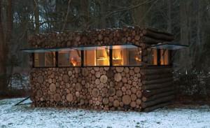 как сделать красивую баню из дров