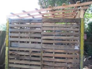 как построить сарай из поддонов своими руками на даче
