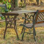 Metal Classic Garden Table and Benches - Обустройство загородного дома и участка своими руками - Уличный стол для дачи - какой выбрать?